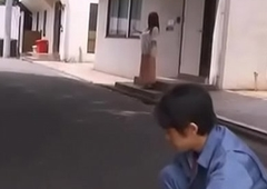 Newly married housewife drilled by worker while husband is away - Teaser