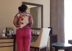 Shy Indian Bhabhi In Hotel District With Her Newly Married Husband Honeymoon