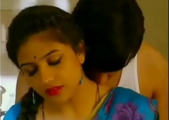 Mallu aunty with the addition of uncle sexy romance a kitchen blue colour saree