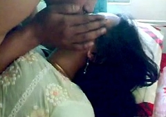 Retiring Indian Honeymoon Couple Foreplay