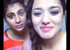 asha and soni pressing boobs doing dubsmash